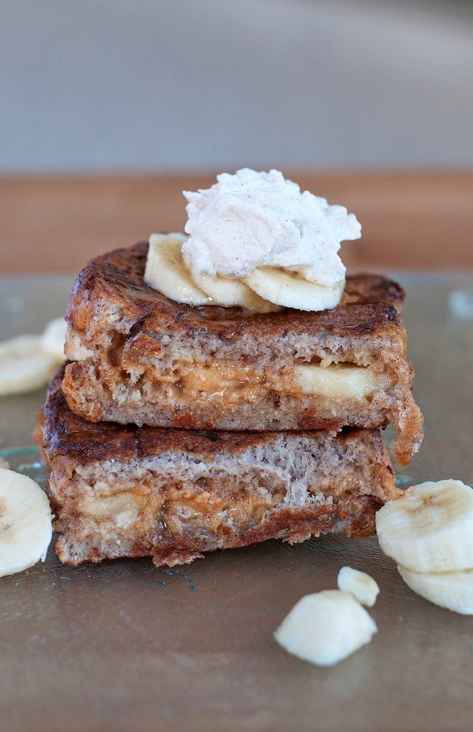 Peanut Butter & Banana Stuffed French Toast: Peanut Butter Bananas, Peanuts, Bananas Stuffed French Toast, Yummy Food, Bananas French, Sweet Tooth, Eating, Favorite Recipes, Breakfast Recipes