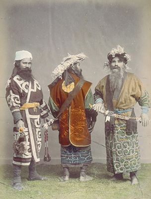 Ainu Men. Circa 1890's.