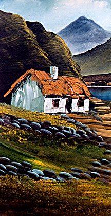 Irish Paint Magic The Hills Of Connemara