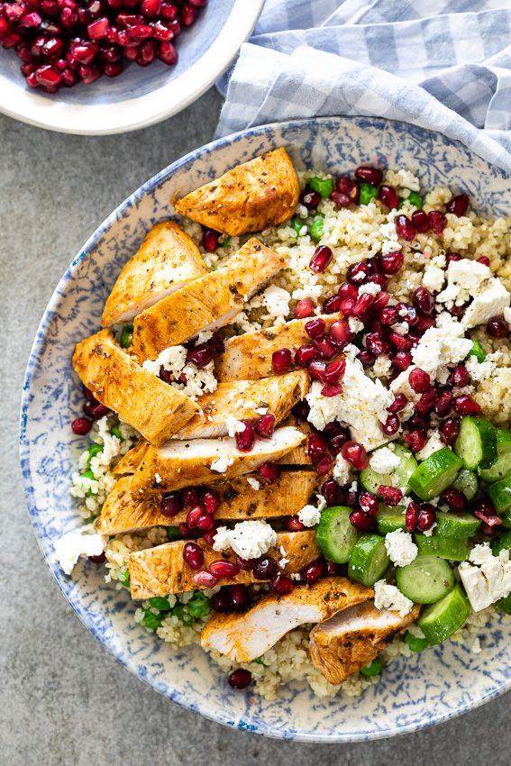 Chicken Quinoa Salad With Peas And Feta Recipe Easy Lunch