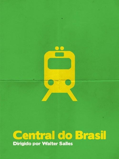 Cartazes minimalistas de filmes brasileiros