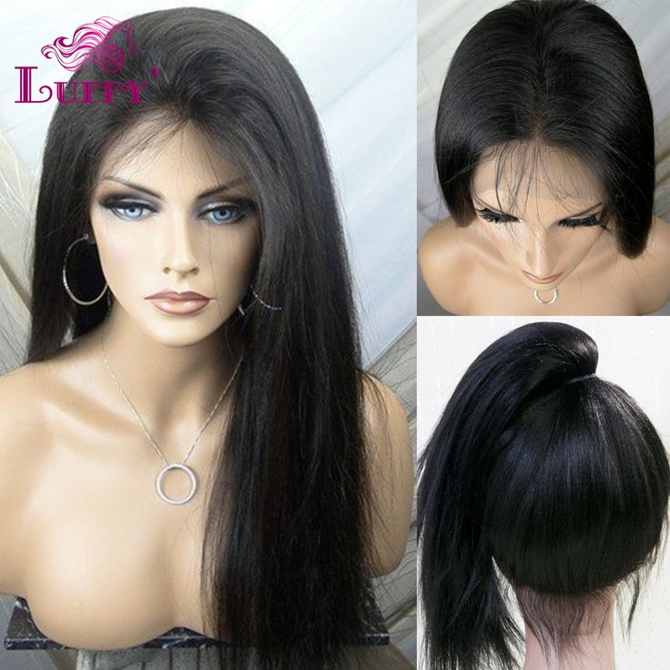 2016 Wholesale Price Straight Full Lace Human Hair Wigs Glueless Full Lace Front Wigs With Ponytail Brazilian Virgin Hair Wigs