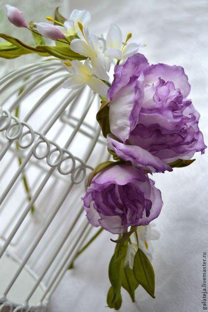 Цветы из шелка Ободок Джулия - ободок для волос,ободок с цветами,ободок с розами