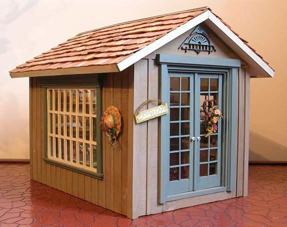 17 best images about miniature garden shed on pinterest for Mini potting shed