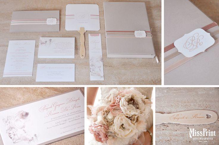 Wedding stationary Classic string con scatola porta libro in coordinato
