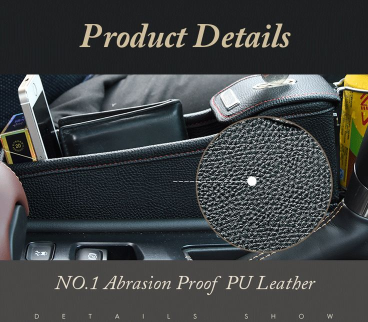 Leather Car Storage Bag Box Money Pot Beverage Holder Car Seat Pocket Organizer