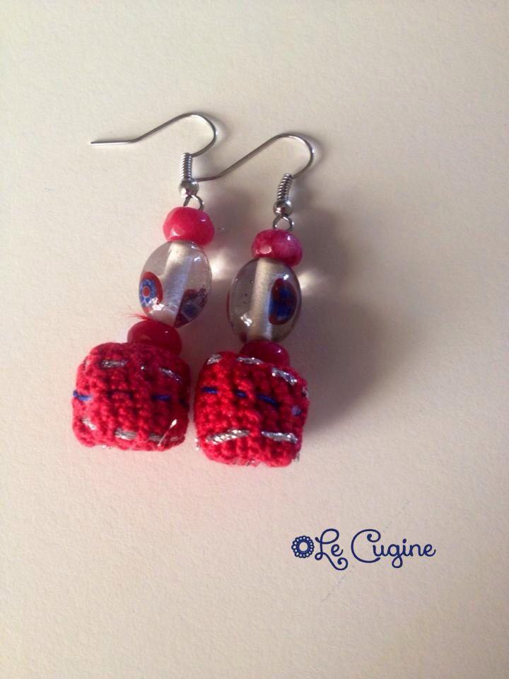 Orecchini#ceramicauncinetto#crochet#lecuginecreazioni#handmade