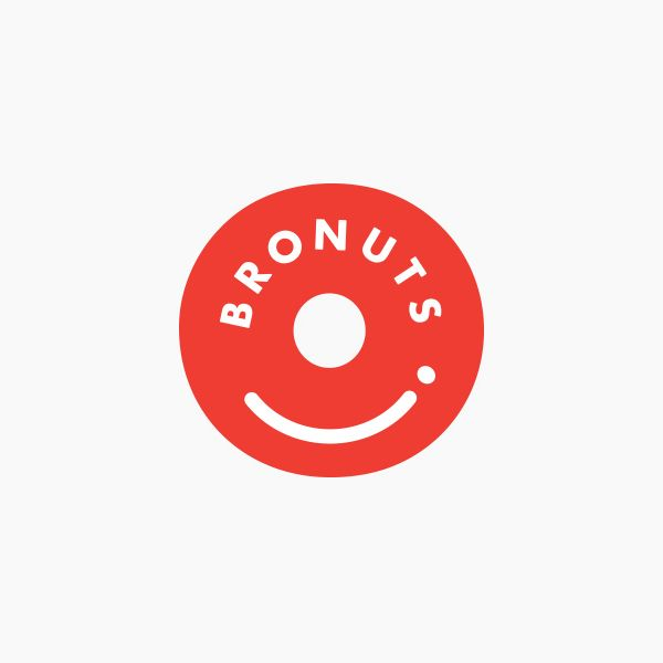 Logo for Bronuts by Canadian graphic design studio One Plus One Design.