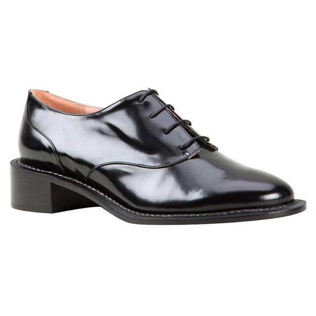 Rochas classic black oxford shoes