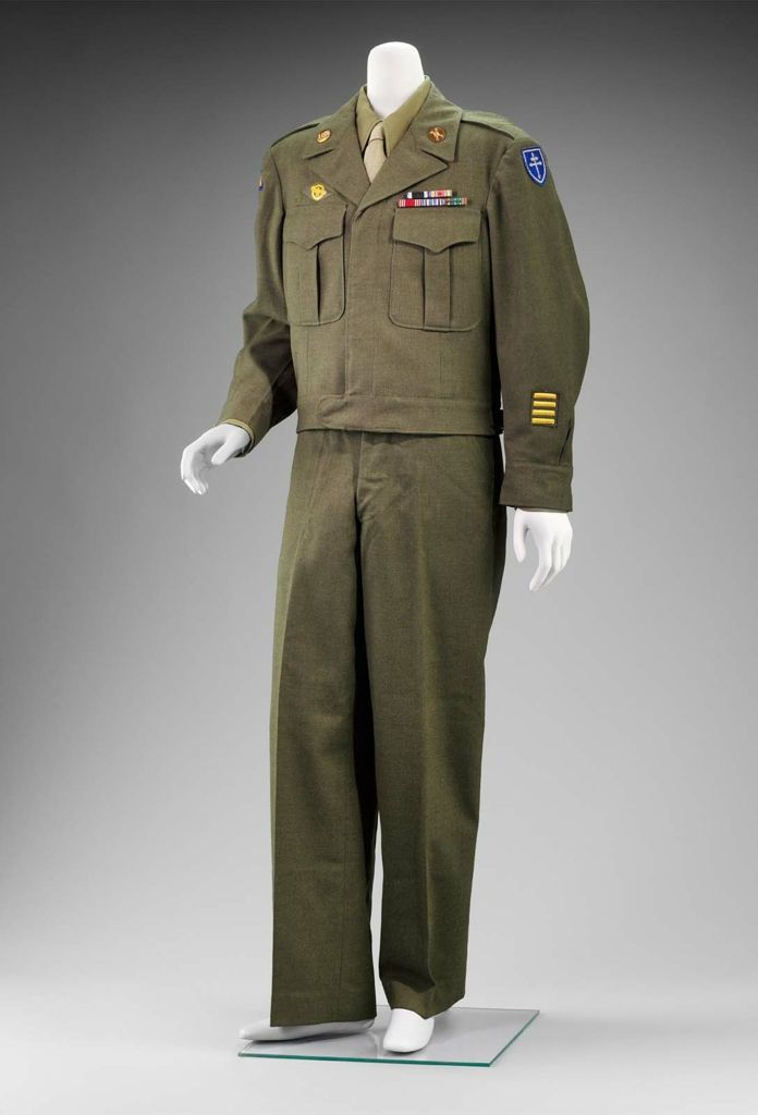 "Man's ""Class A"" US Army uniform, 1944. | Uniforms ..."