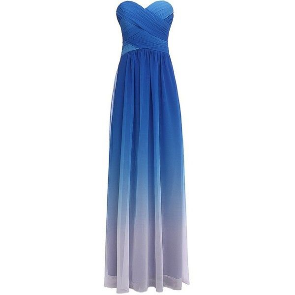 Lacemarry Gradient Colored Spark Stripe Back Prom Dress/ Baidesmaid... (£33) ❤ liked on Polyvore featuring dresses, stripe dress, sparkly prom dresses, blue stripe dress, striped dress e blue dress