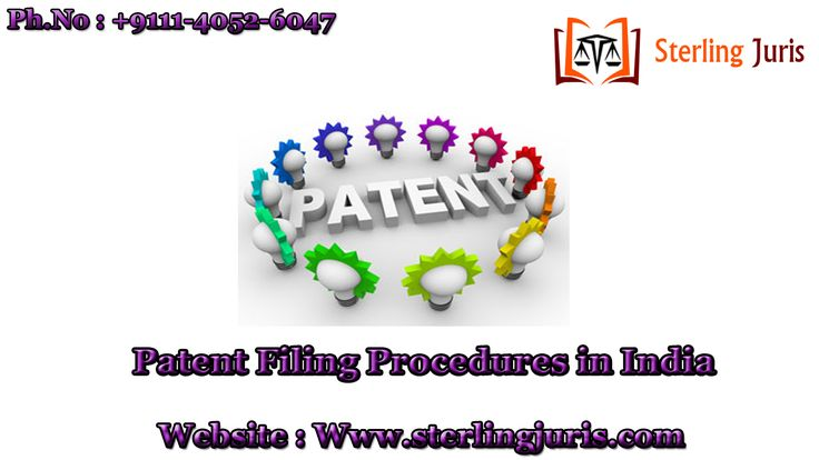 A reputed law firm based in New Delhi, India, Sterling Juris is easing the Patent Filing Procedures in India by offering complete Patent Registration services to its clients that minimizes their legal hassle and offers timely and cost-effective services. We are backed by experienced lawyers and attorney who offers the clients dedicated assistance throughout the procedure, ensuring no failure. For more information get in touch with us now.  Contact No : 9111-4052-6047