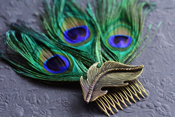 DIY Peacock Feather Fascinator. This is quite cute for your hair!