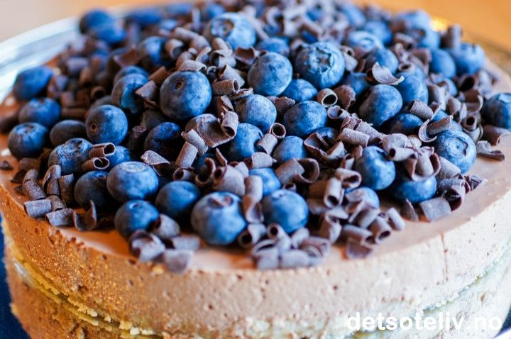 Sjokoladeostekake med blåbær | Det søte liv
