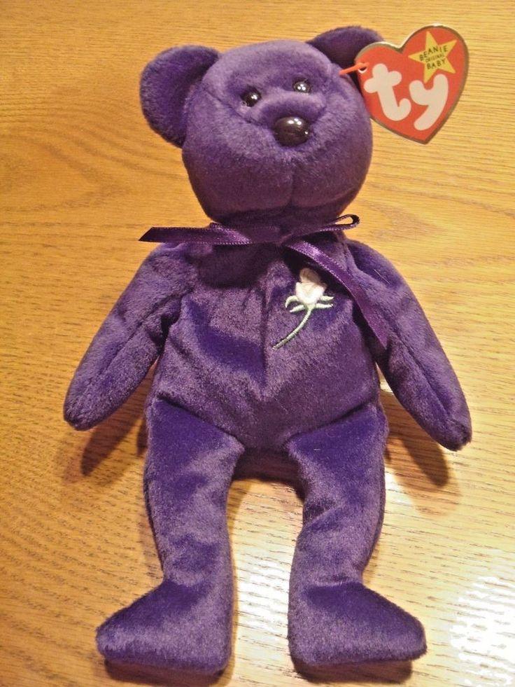 Rare Limited Edition Ty Princess Diana Beanie Baby PE Pellets 1997 HTF Purple #Ty