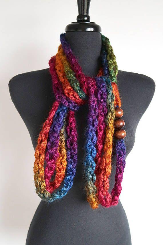 Declaración de colores del arco iris de punto grueso cordones