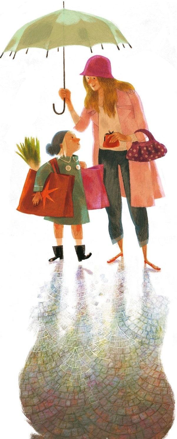 Illustration/Art by artist Annette Marnat via bing images★♥★