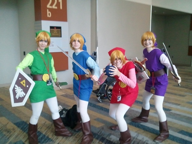 Link Four Swords Cosplay Group of Four Swords /...