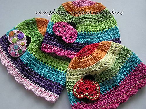 Adorable crocheted baby hats