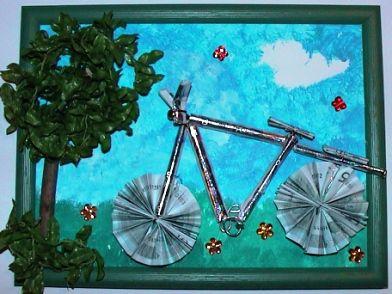 lustiges #Geldgeschenk für ein Fahrrad