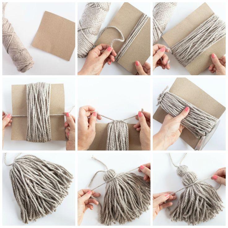 Ideas para renovar nuestras mantas bracelets tassel for Como hacer un bando para cortinas