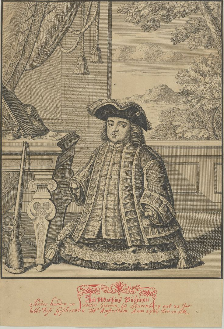 """These micrographic drawings, from the collection of Ricky Jay, are signed with some variation of """"Matthias Buchinger, born without hands or feet."""""""