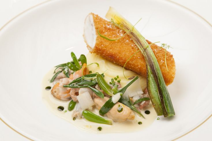 SOUS VIDE DOVER SOLE WITH FISH PIE FLAVOURS, SEA VEGETABLES AND PARSLEY OIL - A tempting fish recipe by chef Shaun Rankin, cooked to perfection thanks to the sous vide cooking method. This is one you will want to make again and again.