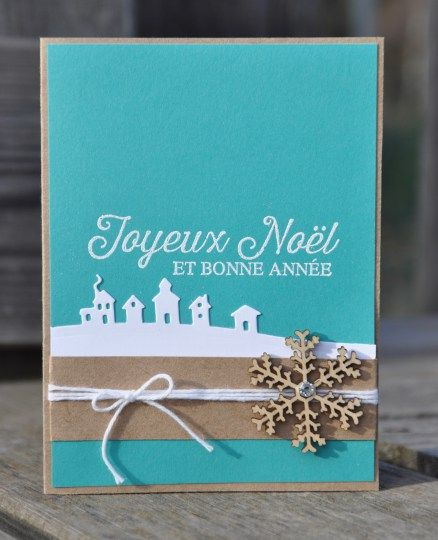 Carte de Noël Tour de traineau par Marie Meyer Stampin up - http://ateliers-scrapbooking.fr/ Plus