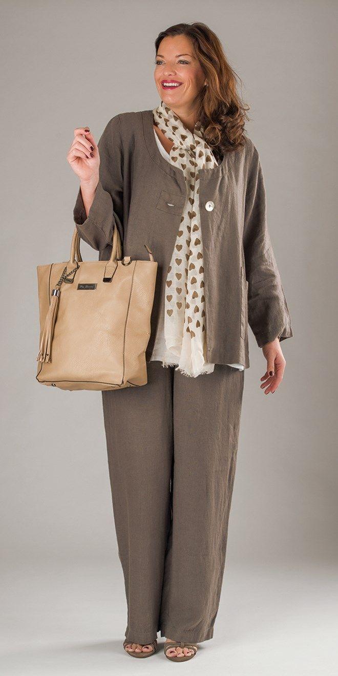 "Yoek khaki linen jacket, £95.00, vest, £60.00, and trouser, £80.00 (IL 32"") | Box2"