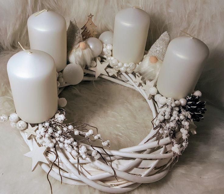 Christmas wreath  #advent #christmas #wreath #white