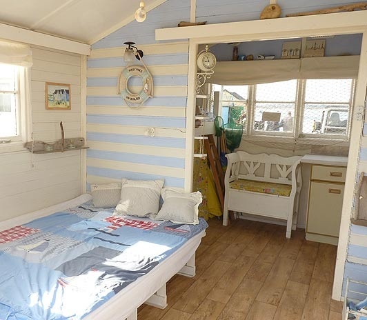 17 best images about beach huts on the english seaside on for Beach hut style interiors