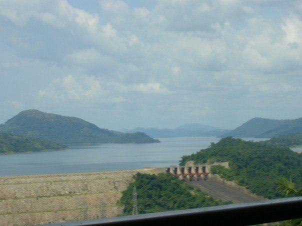 Akosombo Dam, the hydroelectric power plant on Lake Volta, Ghana.