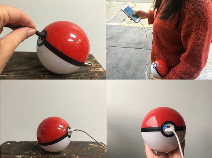 Pokemon inspired USB phone charger. We all love Pokemon GO, but the one problem (besides the 3 step problem and app crashes) is the constant drain on battery life. Power your device like a real Pokemo
