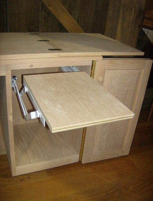Jake's Amish Furniture - Sewing Machine Cabinet with Serger Lift