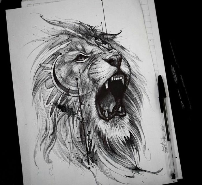 cool-tatouage-avec-signification-tatouage-lion-quell-tatou-swag-adorable-dessin
