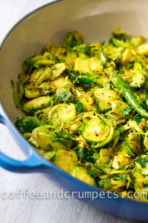Delicious Curried Brussels Sprouts make a flavorful green side dish.