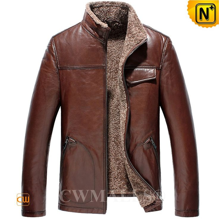 CWMALLS® Custom Brown Leather Shearling Jacket CW836503 Smart and understated men's shearling jacket crafted from natural, premium Turkey lambskin leather shell with curly shearling lined, it keeping you insulated on the chilliest of days. CWMALLS offer customize service for this leather shearling jacket. www.cwmalls.com PayPal Available (Price: $1357.89) Email:sales@cwmalls.com