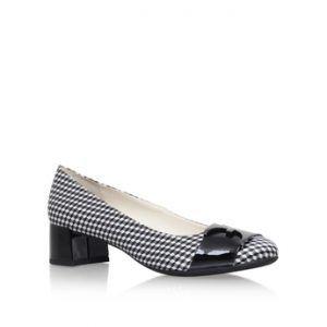 Anne Klein Hastobe Black and White Court Shoes