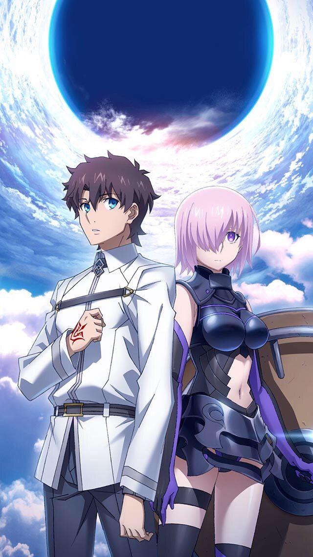 Fujimaru Ritsuka And Mash Kyrielight Fate Grand Order Anime