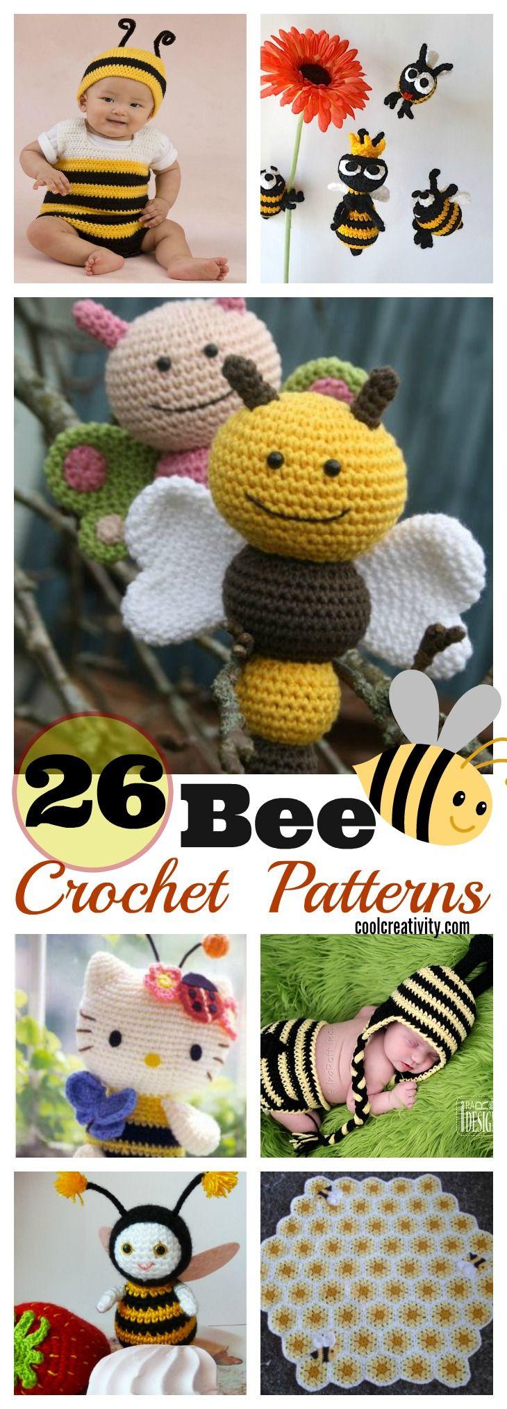 26 Crochet Bee Patterns