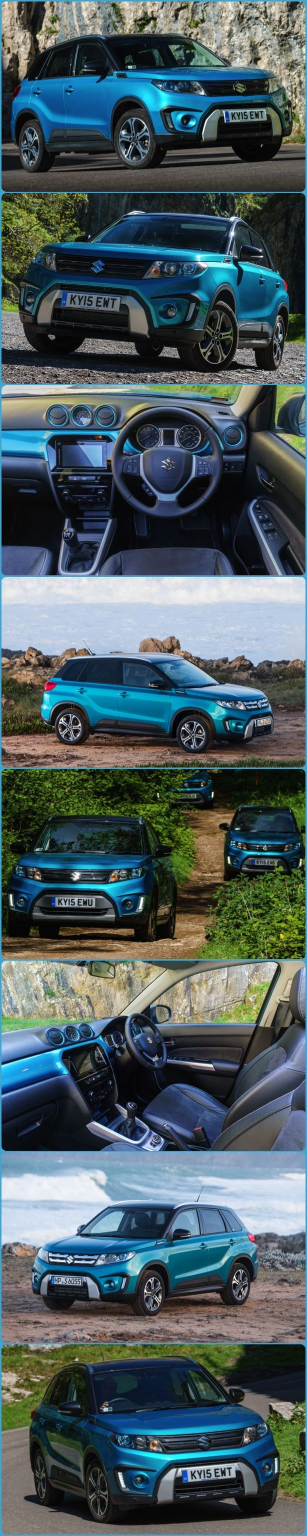 All New Suzuki Vitara Reviewed - Some cars can look great in photos. Here's one. On the road it goes as well as it looks.  Just launched into the UK, the All New Suzuki Vitara SUV. Prices start at just £13,999 and the cheapest version, the SZ4, now has seven airbags, including a driver's knee bag, as standard equipment. Also standard are Bluetooth and DAB radio.  #Suzuki #Vitara #CarReviews #GoodLooking