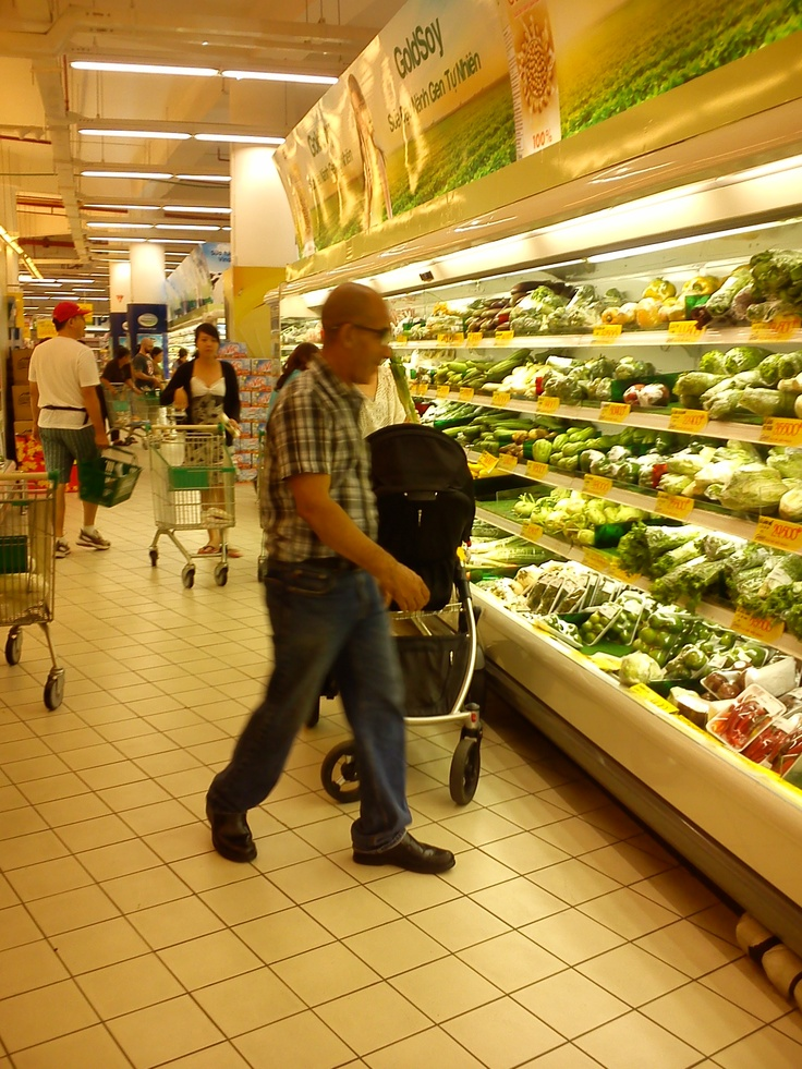 Going to supermarket for buying personal needs