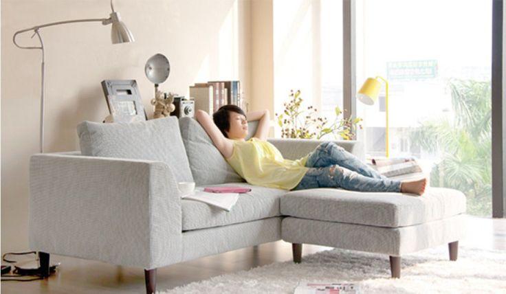 Mini L shape - Small Corner Sofa - Ideal for Small Rooms- Delux Deco UK