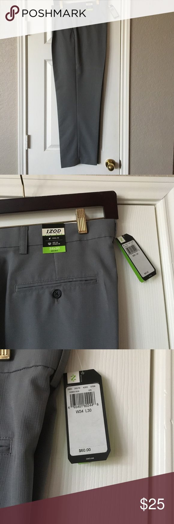 Grey Golf Pants Brand New never worn Izod Golf pants with tags. Grey in color. Very nice pants Izod Pants Chinos & Khakis