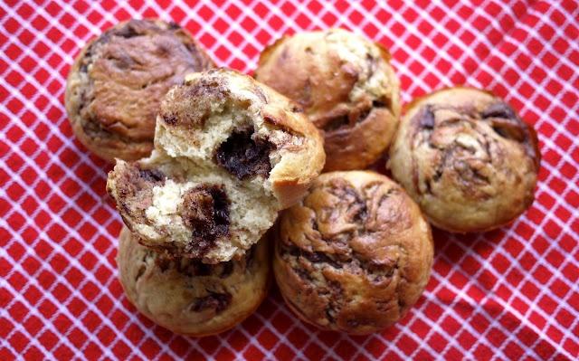 The Londoner: Nutella Swirl Banana Muffins