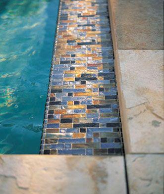 Glass pool tile from Walker Zanger