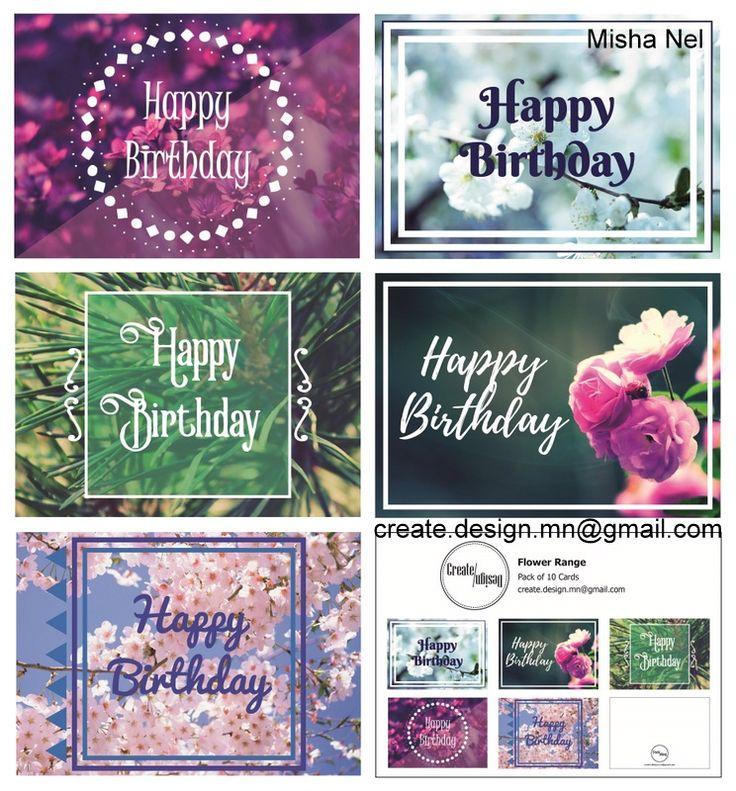 2016 Printable Cards Flower Range