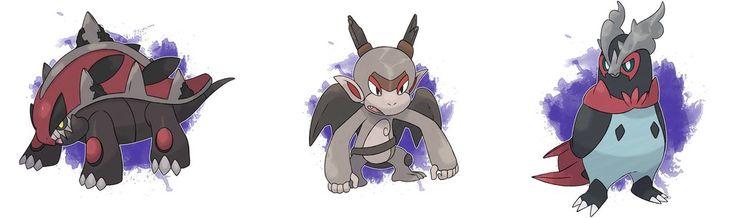 Fakemon - Alolan Sinnoh Starter Evolutions by DevilDman.deviantart.com on @DeviantArt