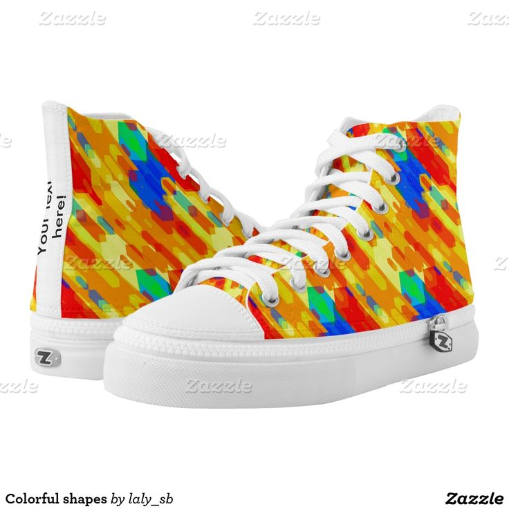 Colorful shapes printed shoes