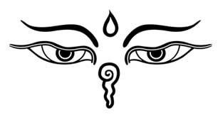 Les yeux de Bouddha